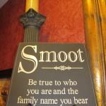 Wees trouw aan wie je bent en de familienaam die je draagt