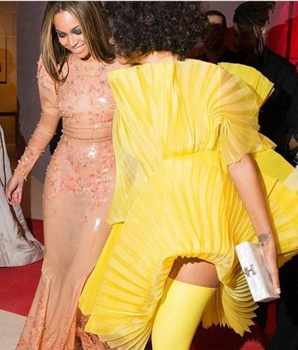 Beyonce en Solange op MET Gala